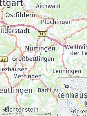 Here Map of Frickenhausen