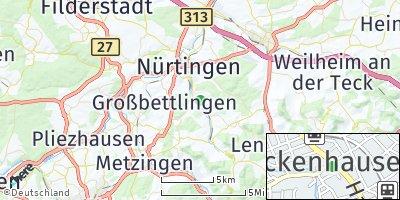 Google Map of Frickenhausen
