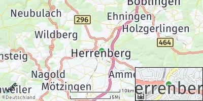 Google Map of Herrenberg
