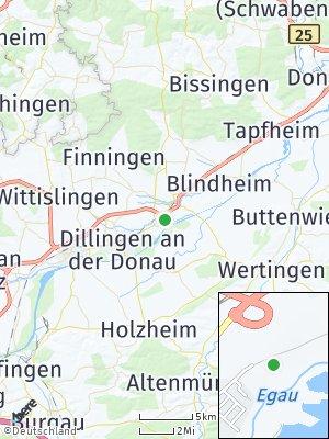 Here Map of Höchstädt an der Donau