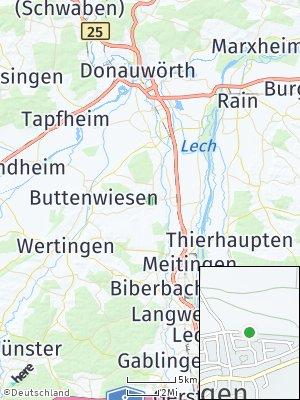 Here Map of Ehingen bei Wertingen
