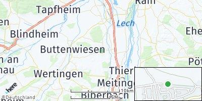 Google Map of Ehingen bei Wertingen