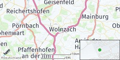 Google Map of Wolnzach