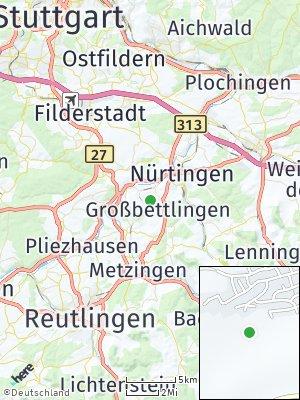 Here Map of Großbettlingen