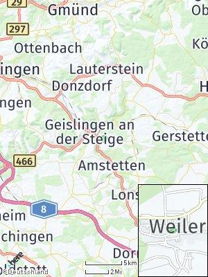 Here Map of Weiler ob Helfenstein