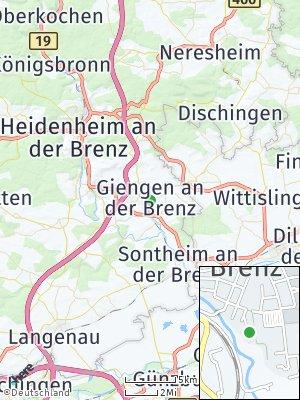 Here Map of Giengen an der Brenz