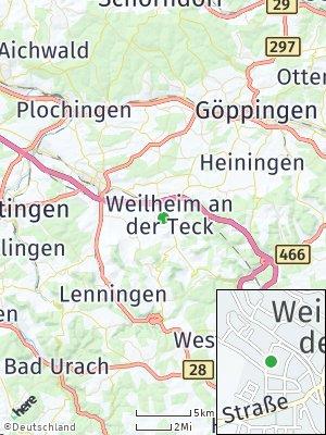 Here Map of Weilheim an der Teck