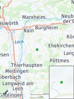 Here Map of Holzheim bei Rain