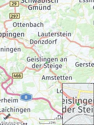 Here Map of Geislingen an der Steige