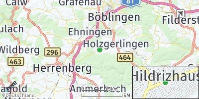 Google Map of Hildrizhausen