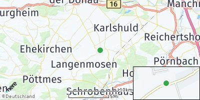 Google Map of Berg im Gau