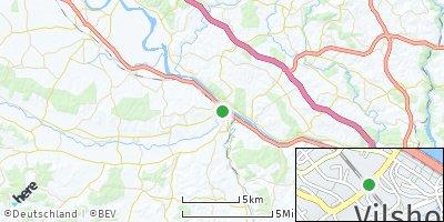 Google Map of Vilshofen an der Donau