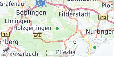 Google Map of Waldenbuch