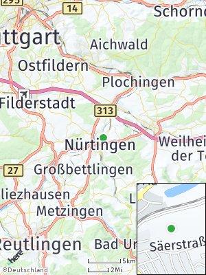 Here Map of Nürtingen