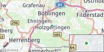 Google Map of Holzgerlingen