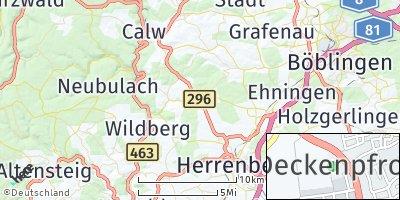 Google Map of Deckenpfronn