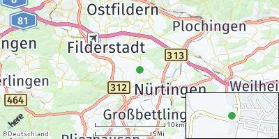 Google Map of Wolfschlugen