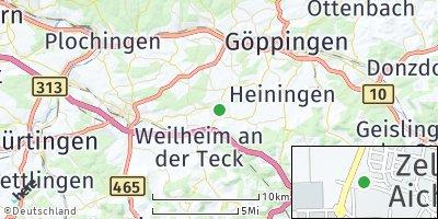 Google Map of Zell unter Aichelberg