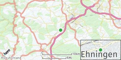 Google Map of Ehningen