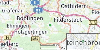 Google Map of Steinenbronn
