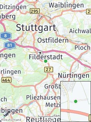 Here Map of Stadt Filderstadt