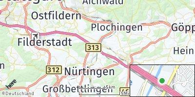Google Map of Unterensingen