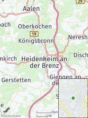 Here Map of Heidenheim an der Brenz