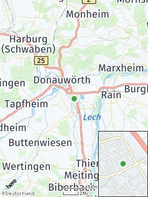 Here Map of Asbach-Bäumenheim