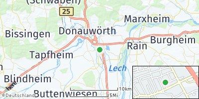 Google Map of Asbach-Bäumenheim