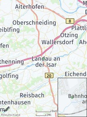 Here Map of Landau an der Isar