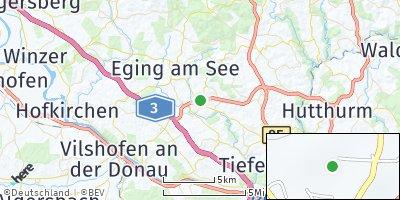 Google Map of Aicha vorm Wald
