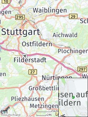 Here Map of Neuhausen auf den Fildern