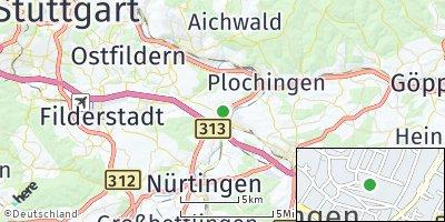 Google Map of Köngen
