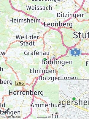 Here Map of Dagersheim