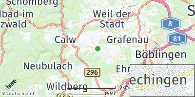 Google Map of Gechingen