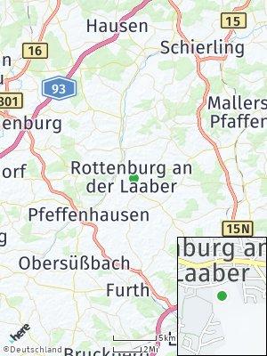 Here Map of Rottenburg an der Laaber