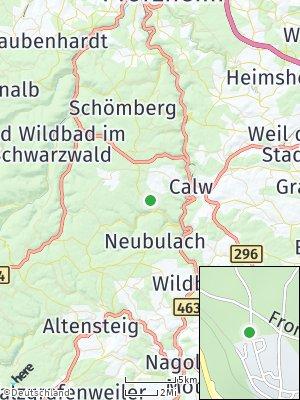 Here Map of Bad Teinach-Zavelstein