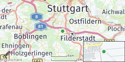 Google Map of Leinfelden-Echterdingen