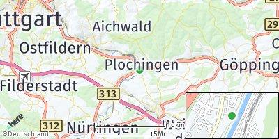Google Map of Wernau