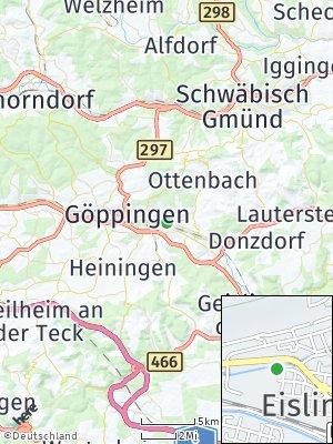 Here Map of Eislingen / Fils