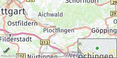 Google Map of Plochingen