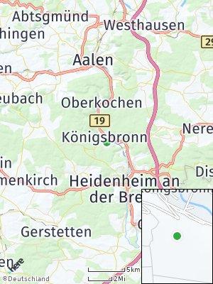 Here Map of Königsbronn