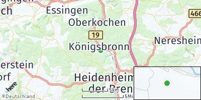 Google Map of Königsbronn