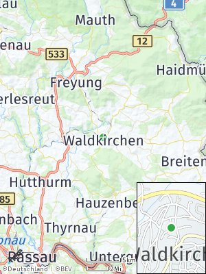 Here Map of Waldkirchen