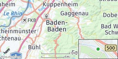 Google Map of Baden-Baden