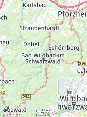 Here Map of Bad Wildbad