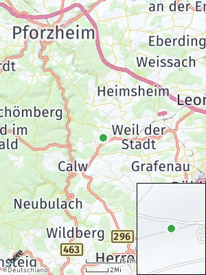 Here Map of Simmozheim