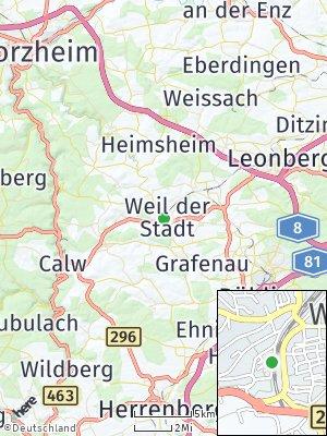 Here Map of Weil der Stadt
