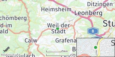 Google Map of Weil der Stadt