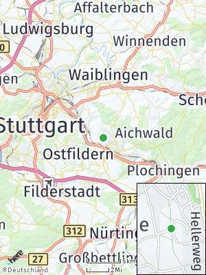 Here Map of Pliensauvorstadt